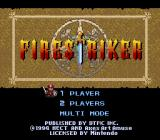 Firestriker SNES Title screen