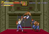 Streets of Rage 2 Genesis Axel fighting in the elevator level