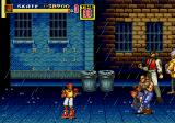 Streets of Rage 2 Genesis Skate waits for the enemies to approach