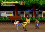 Streets of Rage 2 Genesis Axel takes out an enemy
