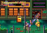 Streets of Rage 2 Genesis Max takes out 2 enemies with one kick