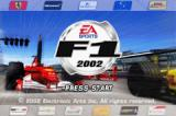 F1 2002 Game Boy Advance Title screen.