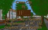 Crime City DOS Title screen.