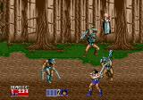 Golden Axe II Genesis Fighting in the forest