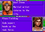 Streets of Rage 3 Genesis Profiles for Axel and Blaze