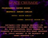 Space Crusade Amiga Credits screen