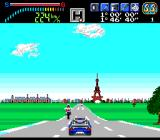 Victory Run TurboGrafx-16 Pass a motorcycle near the start.