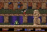 Castle of Illusion starring Mickey Mouse Genesis Mickey is jumping and avoiding the green thing