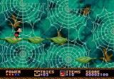 Castle of Illusion starring Mickey Mouse Genesis Giant cobwebs are in the background