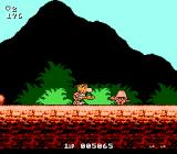 Big Nose the Caveman NES Mountain background