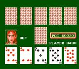 Peek-A-Boo Poker NES Wow, almost a straight!! Watch out´after I change a card, Pok-er!