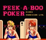 Peek-A-Boo Poker NES Title screen