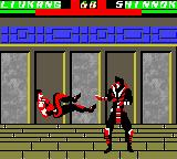 Mortal Kombat 4 Game Boy Color Liu Kang attacks Shinnok with his bicycle kick: what will be the result?