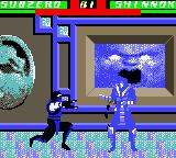 "Mortal Kombat 4 Game Boy Color Sub-Zero ""sculpturing"" a frozen Shinnok."
