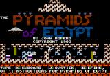 Pyramids of Egypt Apple II Title Screen