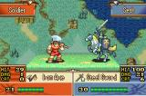 Fire Emblem: The Sacred Stones Game Boy Advance Since swords are strong against axes, the knight has an advantage in this battle