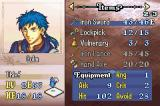 Fire Emblem: The Sacred Stones Game Boy Advance Viewing a character