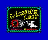 Wizard's Lair ZX Spectrum Loading screen