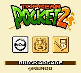Top Gear Pocket 2 Game Boy Color Main menu.