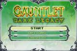 Gauntlet: Dark Legacy Game Boy Advance A basic main menu.