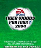 Tiger Woods PGA Tour 2004 N-Gage Title screen