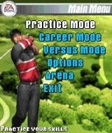 Tiger Woods PGA Tour 2004 N-Gage Main menu
