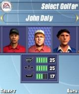 Tiger Woods PGA Tour 2004 N-Gage Golfer selection