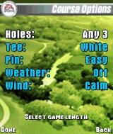 Tiger Woods PGA Tour 2004 N-Gage Course options