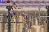 "Contra Advance: The Alien Wars EX Game Boy Advance Eliminating some flying aliens with ""intelligent"" ammunition."
