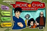 Jackie Chan Adventures: Legend of the Dark Hand Game Boy Advance Main menu, where you can change some settings and continue a current adventure.