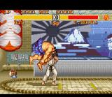 Street Fighter II Turbo SNES Ryu's throw performed with High Punch button.