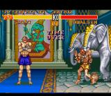 "Street Fighter II Turbo SNES A typical situation named ""Time Over""."