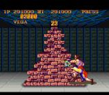 Street Fighter II Turbo SNES In the 2nd bonus game, you have some seconds to destroy a big stack of bricks.