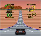 Top Gear 2 SNES Declivities are excellent places to get a good speed increase.