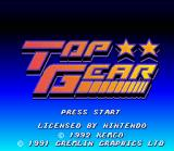 Top Gear SNES Title screen.