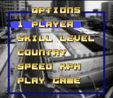 Top Gear SNES This is the main menu, when you manage various game settings.