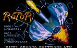 Rotor DOS The title screen.