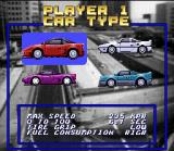 Top Gear SNES There are 4 cars available, each one with different attributes.