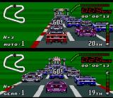 Top Gear SNES Starting a race.