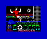Kenny Dalglish Soccer Manager ZX Spectrum The main loading screen