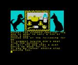 The Growing Pains of Adrian Mole ZX Spectrum Making choices from sets of 3 is the main gameplay element