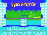 Dragonfire TRS-80 CoCo Title screen