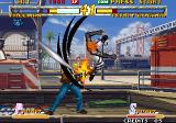 Garou: Mark of the Wolves Neo Geo Terry's arena is an impressive one with plenty of moving obejcts in the background