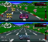 Top Gear SNES Try escape of this colored plates: crashing into one of them, its speed will reduce drastically.