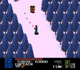 Last Alert TurboGrafx CD Battle through snow covered fields.