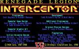 Renegade Legion: Interceptor DOS Title screen