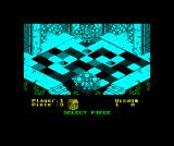 Powerplay: The Game of the Gods ZX Spectrum Starting position in cyan