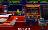 Wing Commander: The Secret Missions 2 - Crusade DOS Iceman and Jazz have a drink at the bar