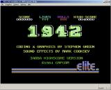 C64 Classix Windows Title screen of 1942 inside the emulator
