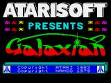 Galaxian ZX Spectrum Title screen